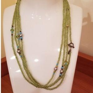 David Yurman Green Mustique Beaded Peridot Pearl